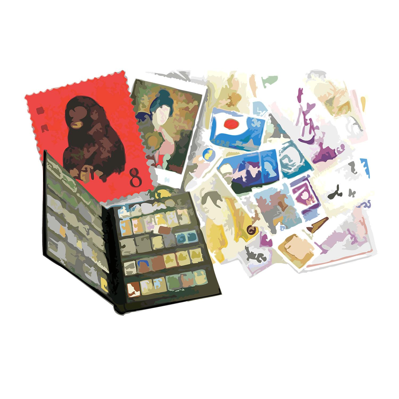 ばら切手とブックと中国切手一式 460,000円で買取り成立!